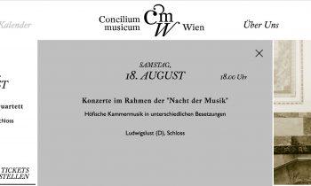 18.08.2018 Nacht der Musik: Konzert mit dem Concilium Musicum Wien